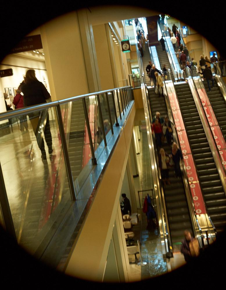 Escalators, Convention Center, Seattle 1